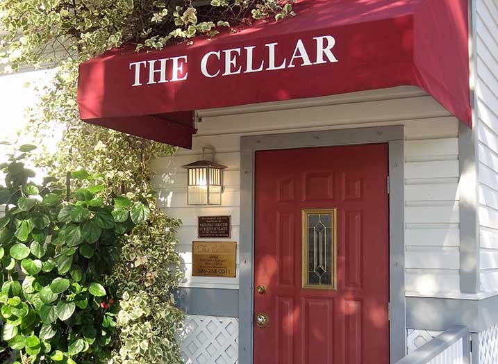 The Cellar Restaurant entrance