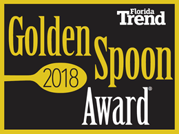 Winner Golden Spoon Award, Florida Trends